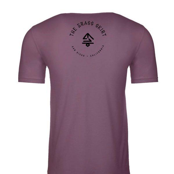 Men's tee purple back