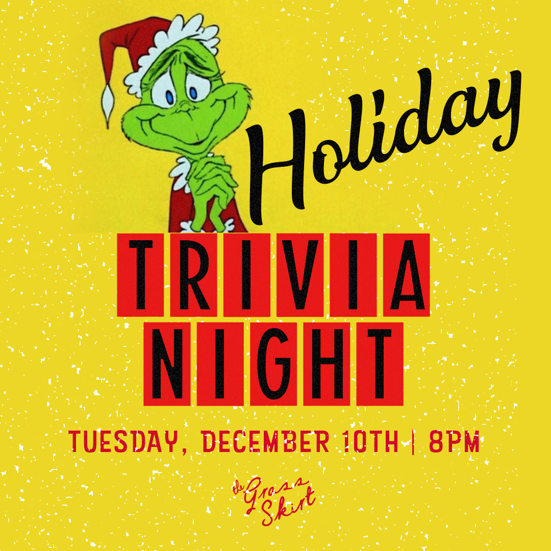 Holiday Trivia Night December 10th at 8PM