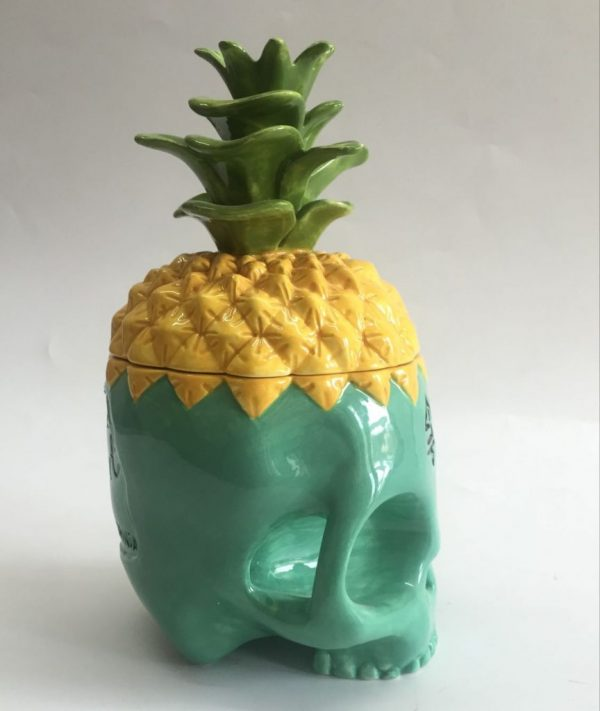 Turquoise Skull mug side