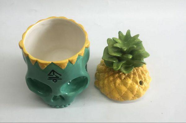 Turquoise Skull mug top