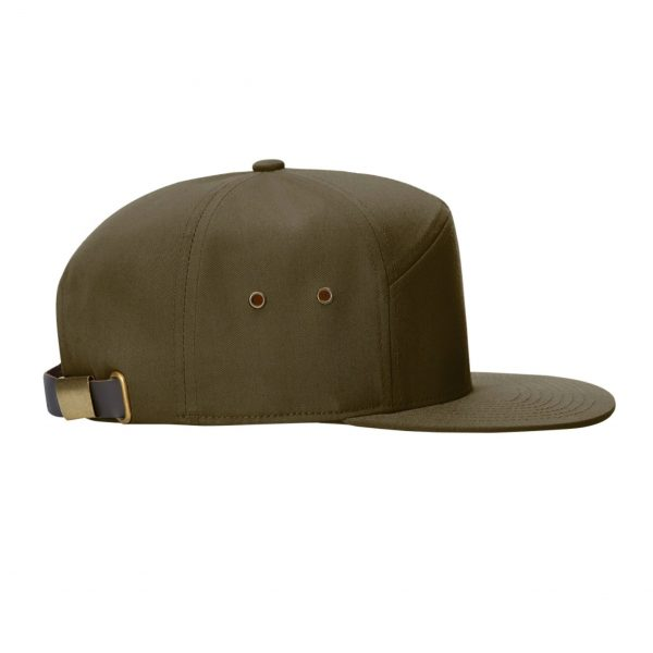 Patch Hat olive side